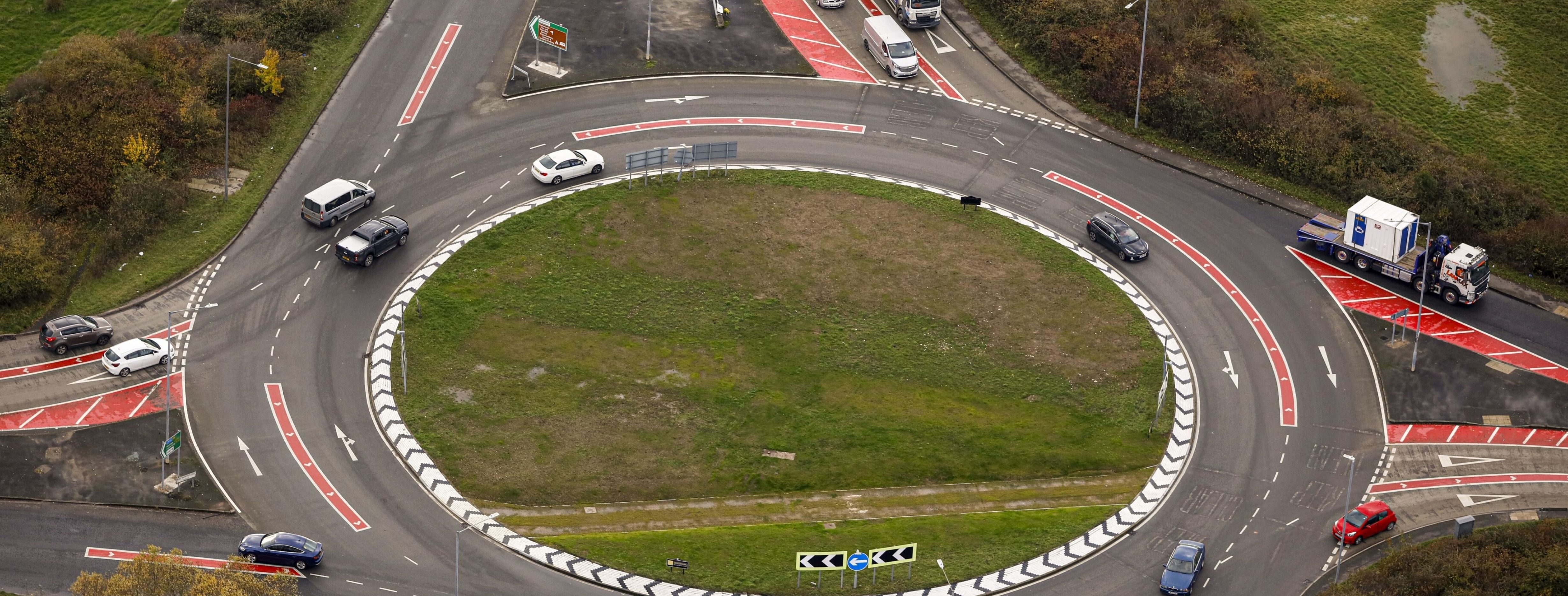 News article entitled Flanders roundabout scheme starts