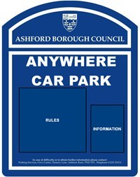 Car Park notice board icon