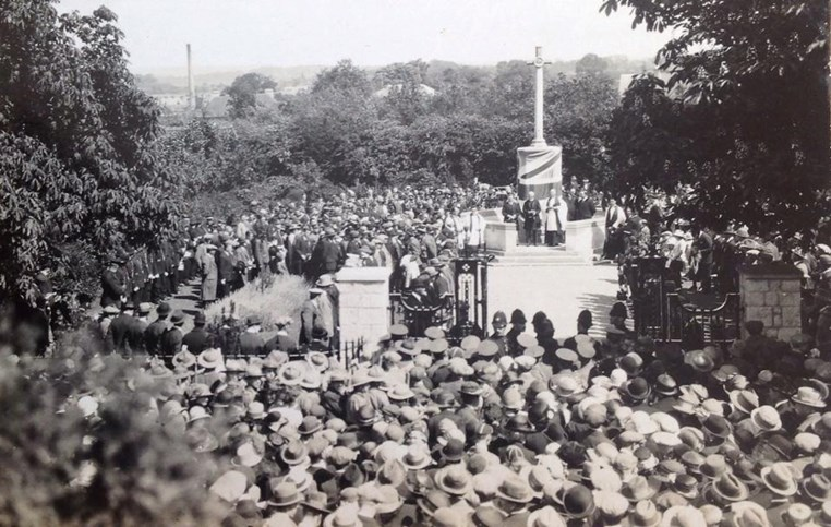 The unveiling of Ashford War Memorial