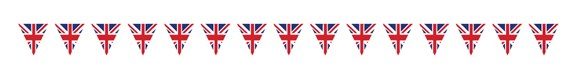 Union Jack flag bunting banner
