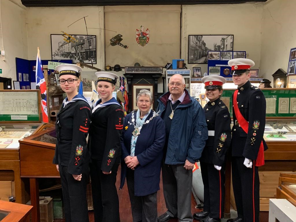 The Mayor of Ashford with Ashford Sea Cadets