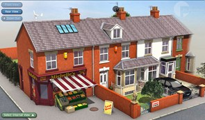 Terraced houses image from the Planning Portal's interactive house