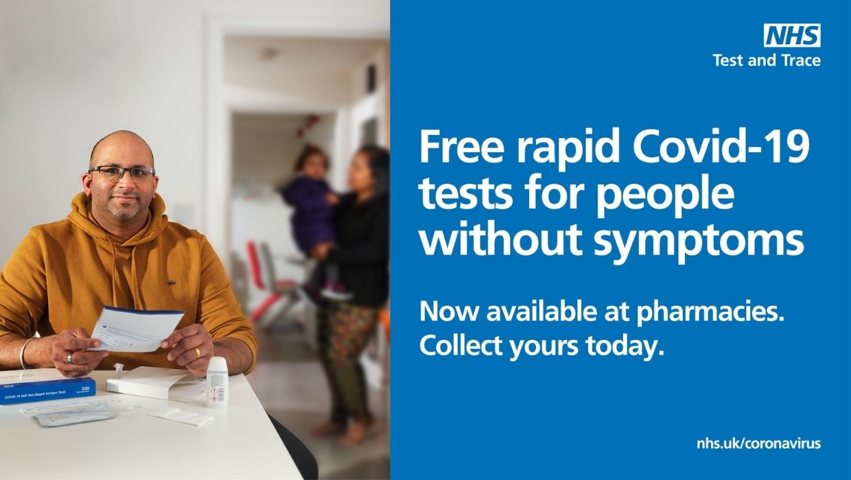 News article entitled Free rapid twice-weekly Covid-19 testing now available