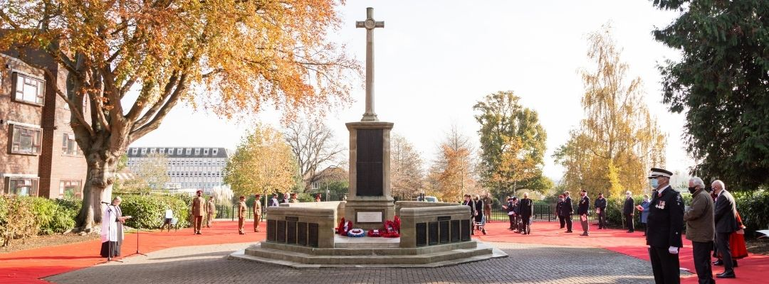 News article entitled Ashford marks Remembrance Sunday 2020
