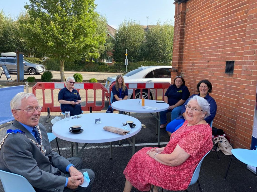 The Mayor and Mayoress of Ashford meeting Street Pastors at Willesborough Baptist Church