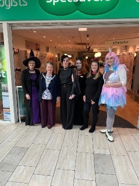 The Mayor at Specsavers for Halloween