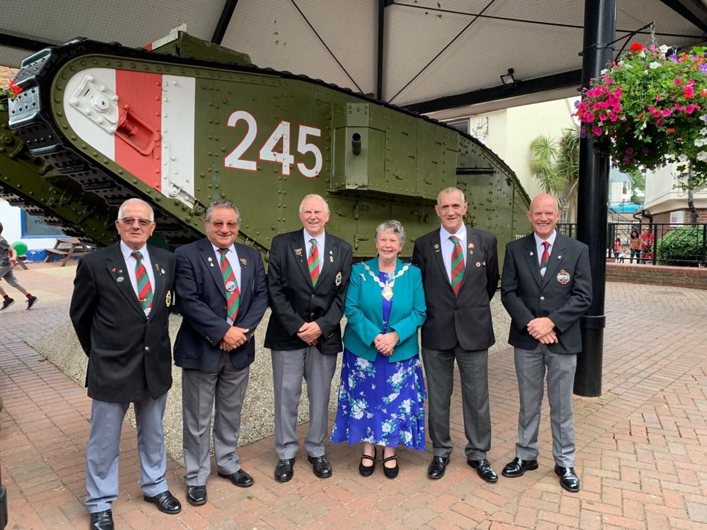 The Mayor at the Cambrai Tank event from Summer 2019