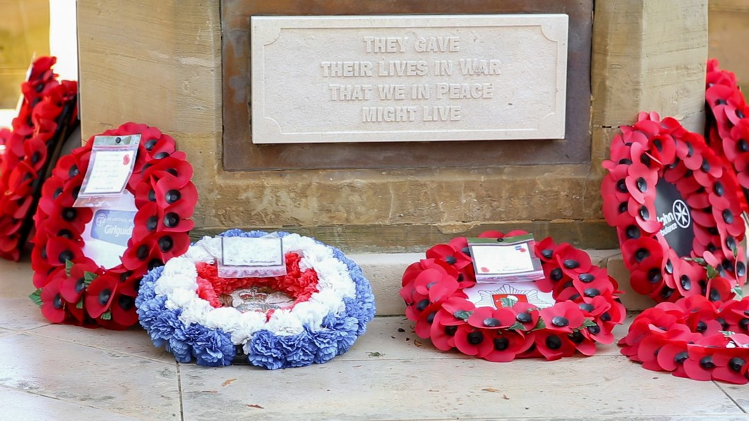 Wreaths laid at the Ashford Memorial Gardens for Remembrance 2020
