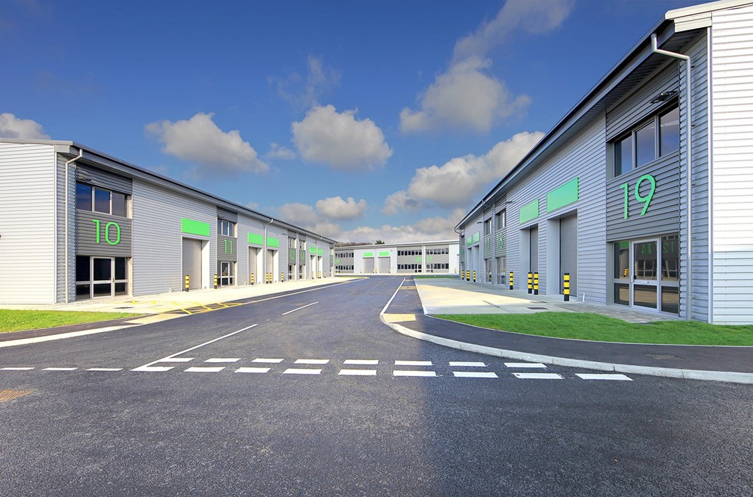 A picture showing units at Carlton Road Business Park